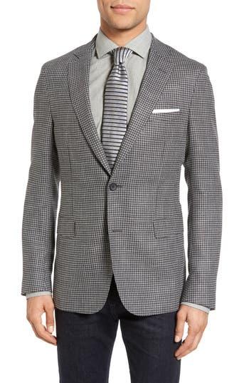 Men's Boss Roan Trim Fit Houndstooth Wool Blend Sport Coat