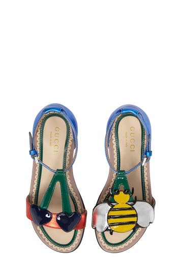 Girl's Gucci Bee Cerise Sandal