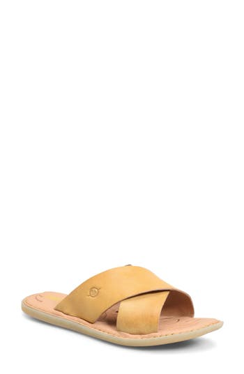 Women's B?rn Kula Slide Sandal, Size 6 M - Yellow