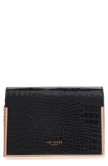 Ted Baker London Leather Crossbody Bag - Black
