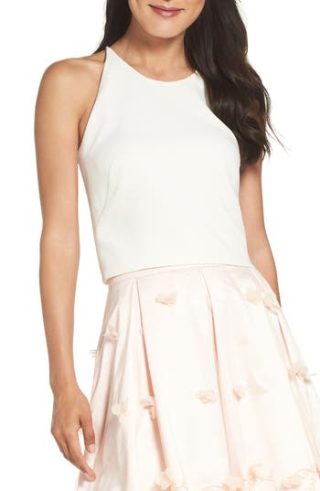 Women's Eliza J Floral Appliqué Ball Skirt