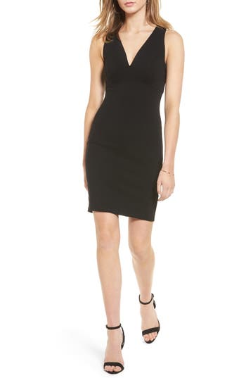 Women's Soprano Cross Back Body-Con Dress, Size Large - Black