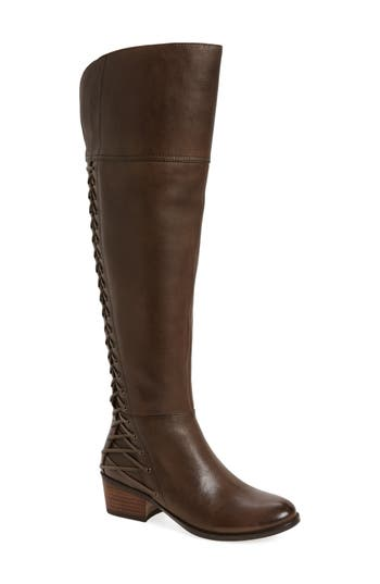 Retro Boots, Granny Boots, 70s Boots Womens Vince Camuto Bolina Over The Knee Boot Size 12 Regular Calf M - Grey $119.96 AT vintagedancer.com