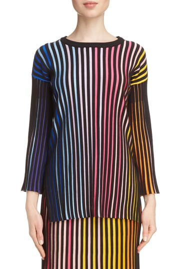 Women's Kenzo Stripe Rib Knit Sweater, Size X-Small - Pink