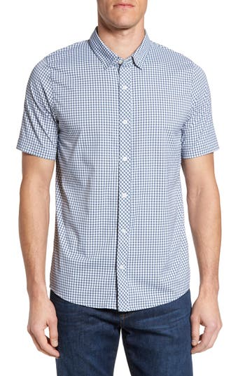 Men's Travis Mathew Barker Trim Fit Plaid Sport Shirt