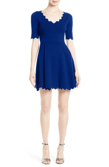 Women's Milly Fit & Flare Knit Dress, Size Medium - Blue