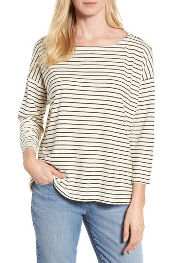 Women's Eileen Fisher Stripe Boxy Sweater