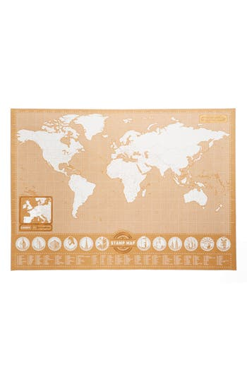 Luckies Of London Stamp Map, Size One Size - Brown