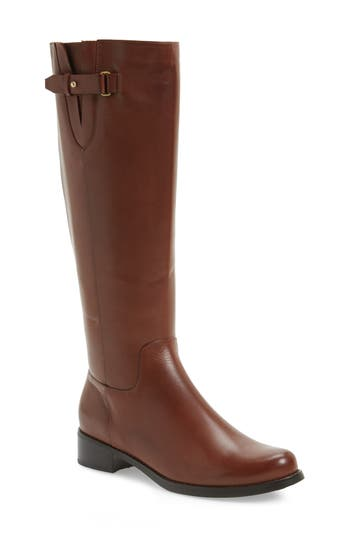 Blondo Volly Waterproof Riding Boot Wide Calf- Brown