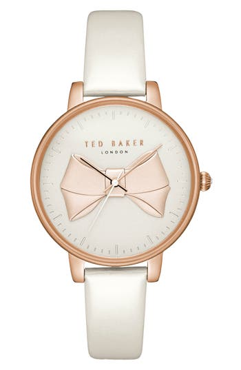 Ted Baker  BROOK LEATHER STRAP WATCH, 36MM