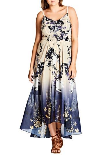 Plus Size Women's City Chic Tokyo Blossom Maxi Dress
