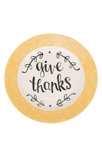 Glory Haus Give Thanks Plate, Size One Size - Ivory