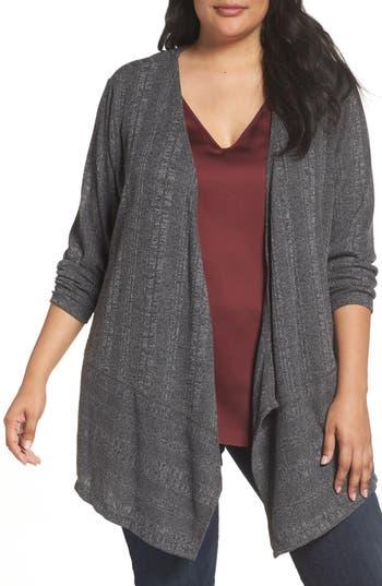Plus Size Women's Sejour Ribbed Knit Cardigan