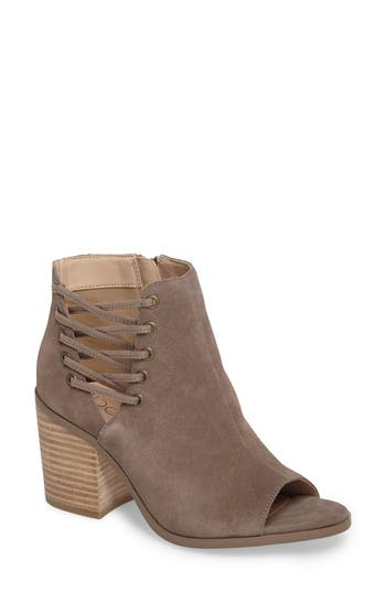 Sole Society Beechwood Peep Toe Bootie, Grey