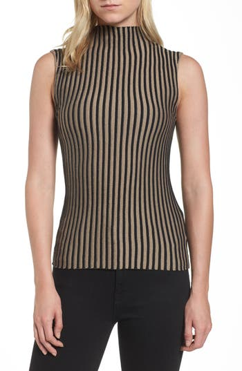 Women's Kenneth Cole New York Stripe Sweater, Size X-Small - Black