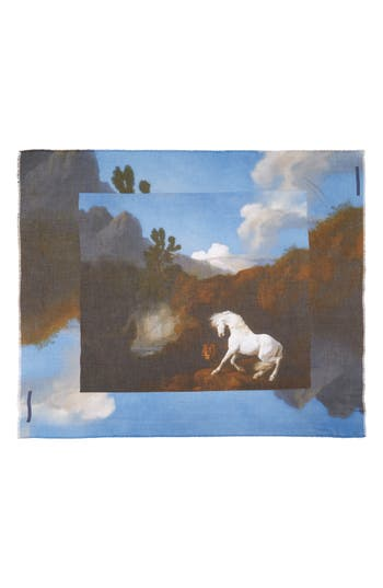 Women's Stella Mccartney Stubbs Horse Printed Scarf