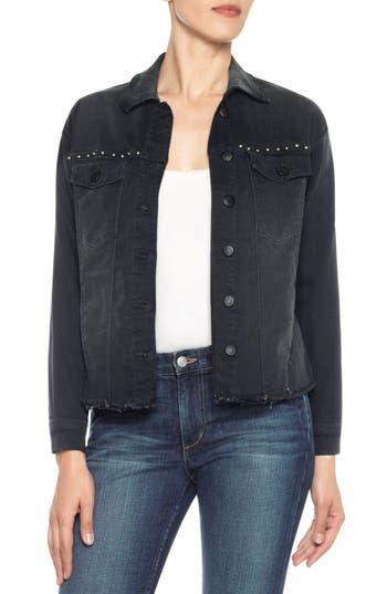 Women's Joe's Embroidered Denim Boyfriend Jacket, Size X-Small - Black