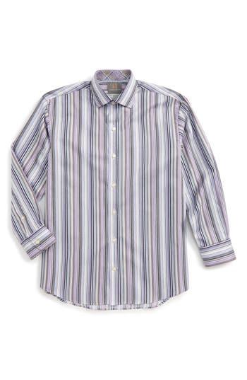 Boy's Thomas Dean Stripe Dress Shirt