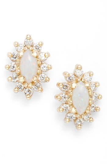 Zoe Chicco Diamond & Opal Cluster Stud Earrings (Nordstrom Exclusive)