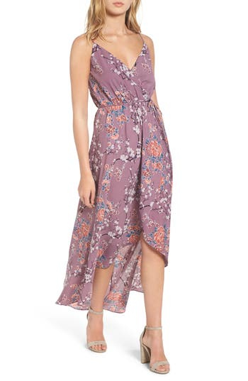 Women's Soprano Wrap Maxi Dress, Size Small - Purple