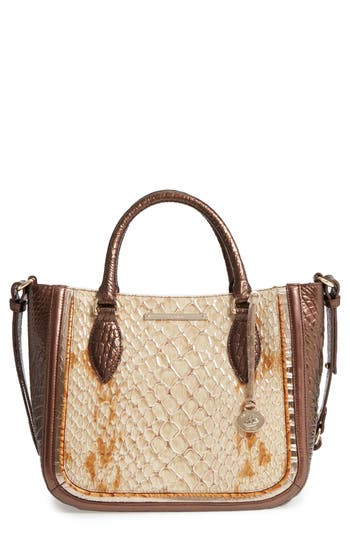 Brahmin Honey Carlisle Small Lena Leather Satchel -