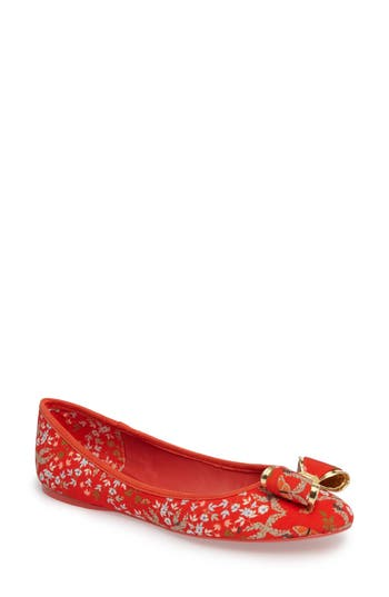 Women's Ted Baker London Immep Bow Flat, Size 5 M - Red