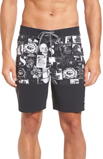 Billabong X Warhol Black & White Board Shorts, Black