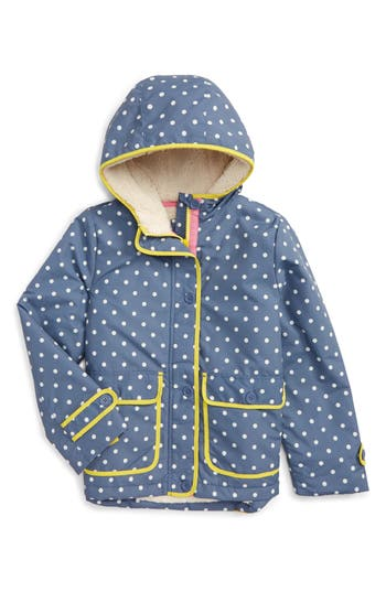 Girl's Mini Boden Shower-Resistant Hooded Anorak