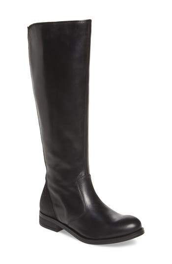 Fly London Axil Elastic Back Riding Boot - Black