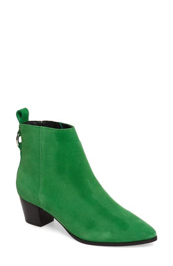 Topshop Matcha Pointy Toe Bootie - Green