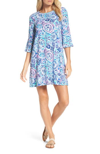 Women's Lilly Pulitzer Ophelia Swing Dress, Size XX-Small - Blue/green