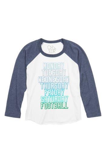 Boy's Chaser Sunday Football Long Sleeve Raglan T-Shirt