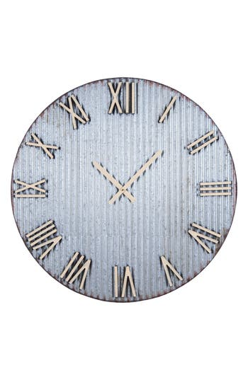 Foreside Farmers Corrugated Metal Wall Clock