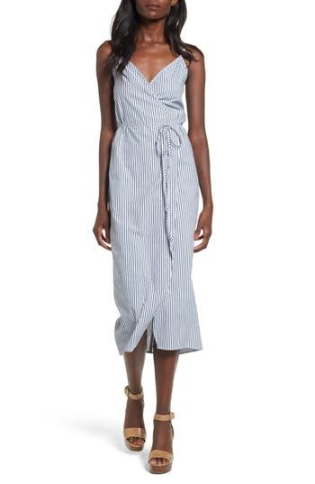 Women's Wayf Wrap Midi Dress, Size X-Small - Black
