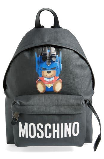 Moschino Transformer Bear Pouch - White