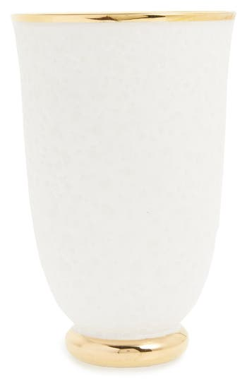 Aerin Marion Tapered Ceramic Vase, Size One Size - White