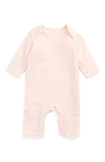Infant Girl's Aden + Anais Quilted Romper