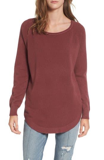 Women's Dreamers By Debut Shirttail Hem Sweater, Size X-Small - Purple