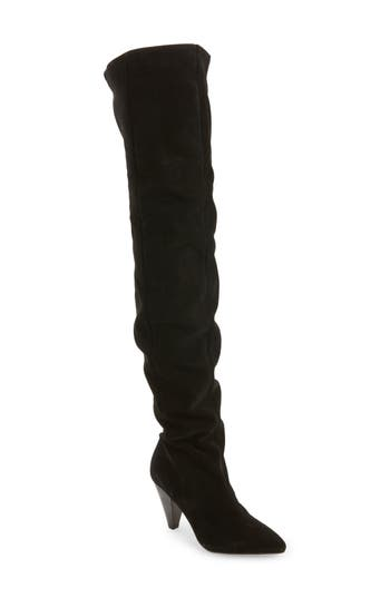 Topshop Boxer Thigh High Boots - Black