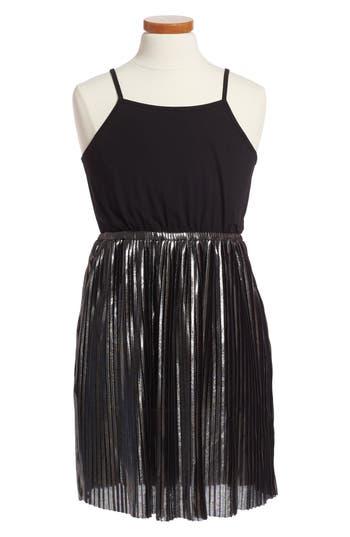 Girl's Bardot Junior Metallic Sleeveless Dress