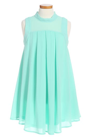 Girl's Miss Behave Jackie Illusion Yoke Chiffon Dress