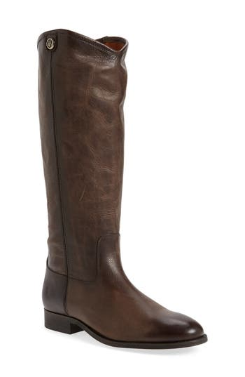 Frye Melissa Button 2 Knee High Boot, Wide Calf- Grey