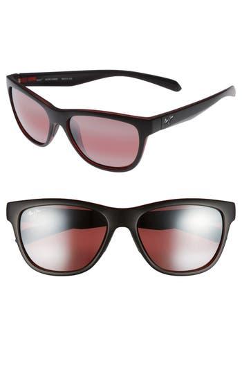 Maui Jim Secrets 5m Polarizedplus2 Sunglasses - Black W/ Red/ Maui Rose