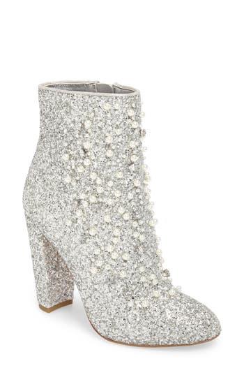 Jessica Simpson Starlite Embellished Bootie, Metallic