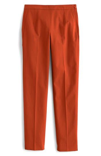 Women's J.crew 'Martie' Bi-Stretch Cotton Blend Pants, Size 6 - Red