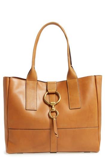 Frye Ilana Harness Leather Shopper - Brown
