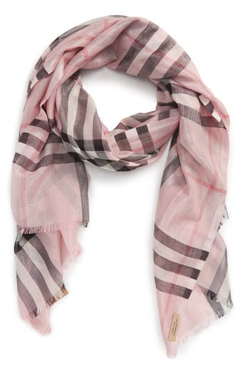 Women's Burberry Metallic Giant Check Scarf