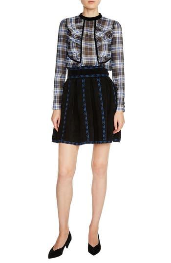 Women's Maje Jacquard Flare Skirt