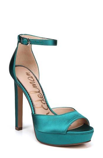 Women's Sam Edelman Wallace Platform Sandal, Size 6 M - Metallic