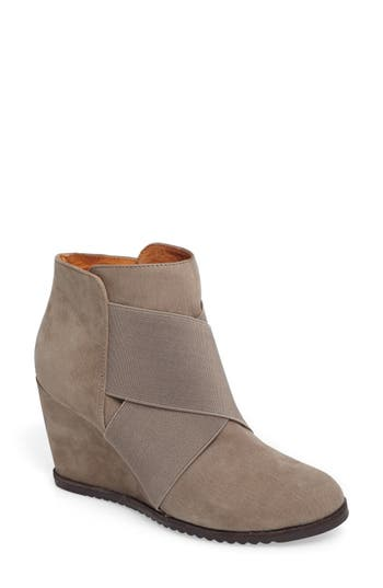 Gentle Souls Georgia Wedge Bootie- Grey
